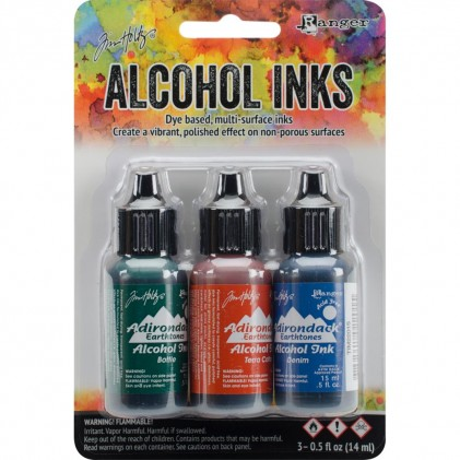 Adirondack Alcohol Inks - 3er Set Rustic Lodge