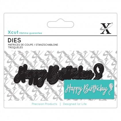 Xcut Mini Sentiment Die Happy Birthday