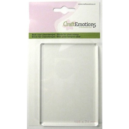 CraftEmotions Acrylblock für Clear Stamps - 7,4 cm x 10,5 cm