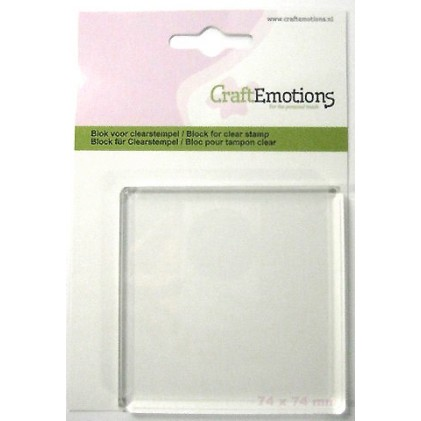 CraftEmotions Acrylblock für Clear Stamps - 7,4 cm x 7,4 cm