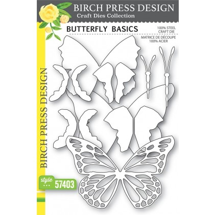 Birch Press Stanzschablone - Butterfly Basics