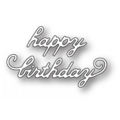 Memory Box Stanzschablone - Lovely Happy Birthday