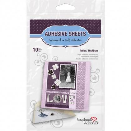 Scrapbook Adhesives Permanent Adhesive Sheets - Doppelseitige Klebebögen 10x15cm