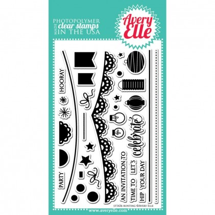Avery Elle Clear Stamps - Bunting
