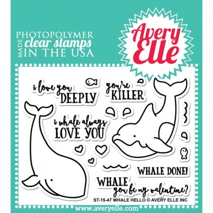 Avery Elle Clear Stamps - Whale Hello
