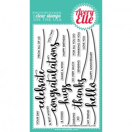 Avery Elle Clear Stamps - Sentimental
