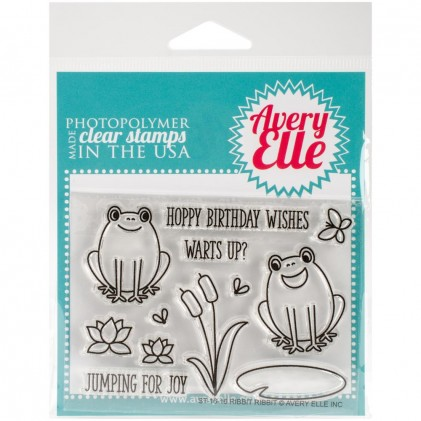 Avery Elle Clear Stamps - Ribbit Ribbit