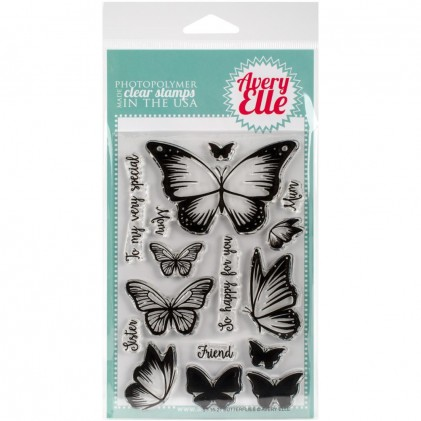Avery Elle Clear Stamps - Butterflies