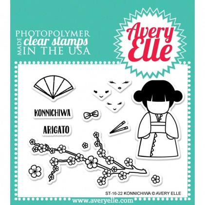 Avery Elle Clear Stamps - Konnichiwa