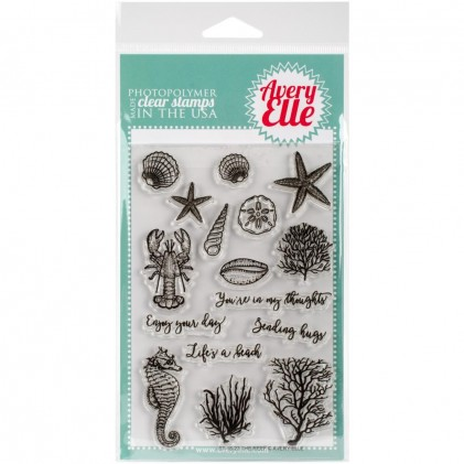 Avery Elle Clear Stamps - The Reef