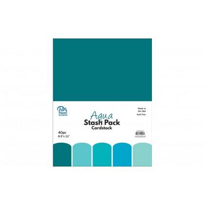 Paper Accents Stash Pack 40 Blatt - Aqua