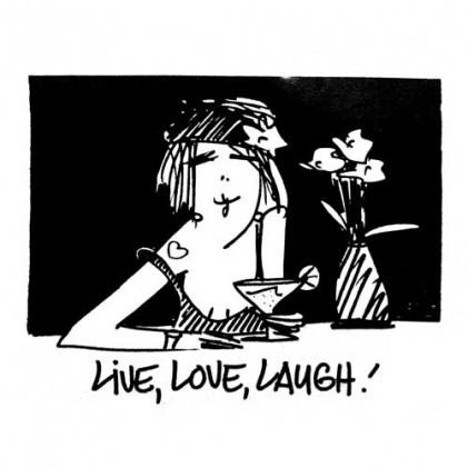American Art Stamp - Live, Love, Laugh