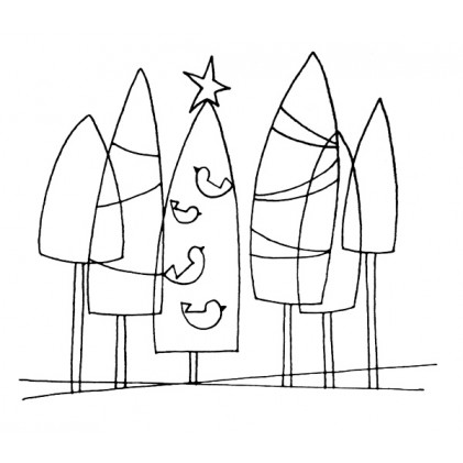 American Art Stamp - Trees