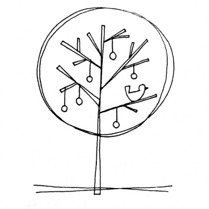American Art Stamp - Tree with Bird