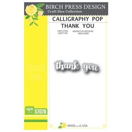 Birch Press Stanzschablone - Calligraphy Pop Thank You
