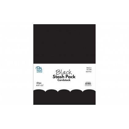Paper Accents Stash Pack 40 Blatt - Black