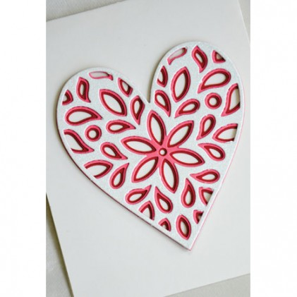 Birch Press Stanzschablonen-Set - Fiori Heart Layer Set