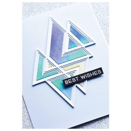 Birch Press Stanzschablone - Prismatic Triangle Layer Set