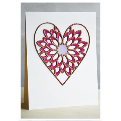 Birch Press Stanzschablone - Dahlia Heart Layer Set