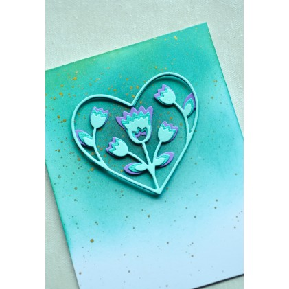 Birch Press Stanzschablone - Folk Art Heart Layer Set