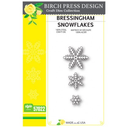 Birch Press Stanzschablonen-Set - Bressingham Snowflakes