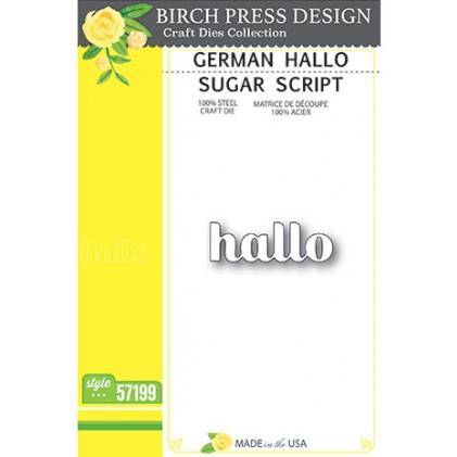 Birch Press Stanzschablone - Hallo Sugar Script