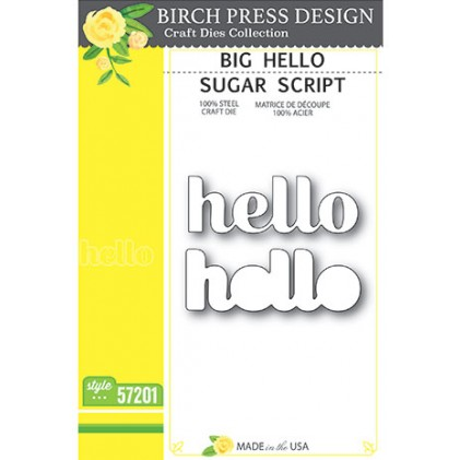 Birch Press Stanzschablone - Big Hello Sugar Script