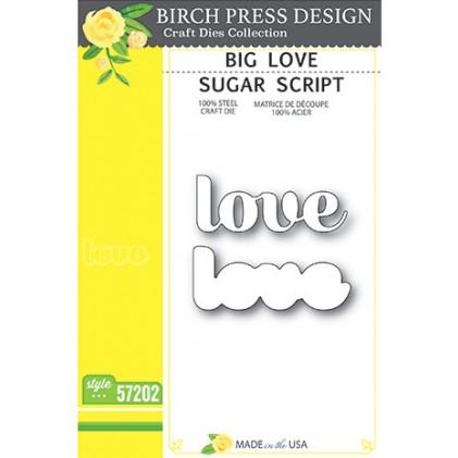 Birch Press Stanzschablone - Big Love Sugar Script