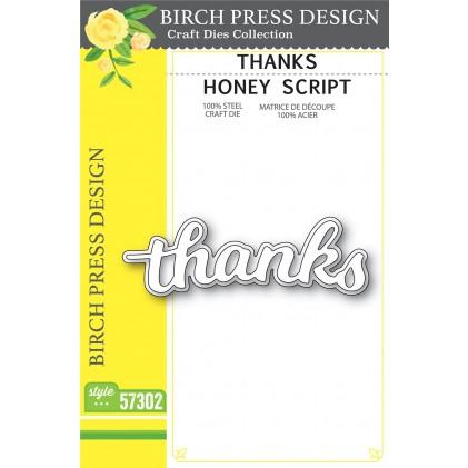 Birch Press Stanzschablone - Thanks Honey Script