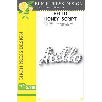 Birch Press Stanzschablone - Hello Honey Script