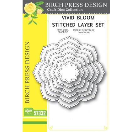 Birch Press Stanzschablone - Vivid Bloom Stitched Layer Set