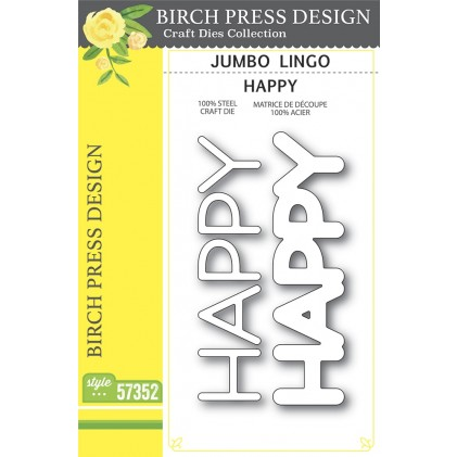 Birch Press Stanzschablone - Jumbo Lingo Happy