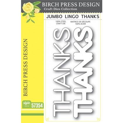 Birch Press Stanzschablone - Jumbo Lingo Thanks