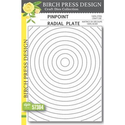 Birch Press Stanzschablone - Pinpoint Radial Plate