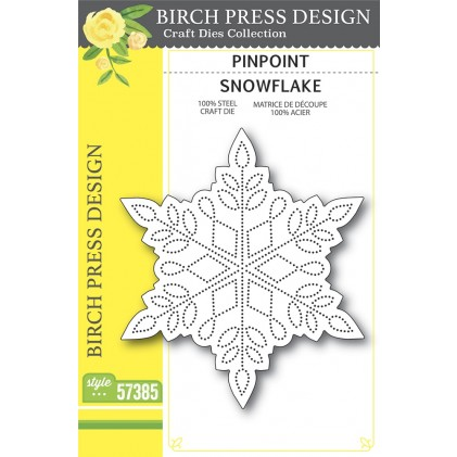 Birch Press Stanzschablone - Pinpoint Snowflake