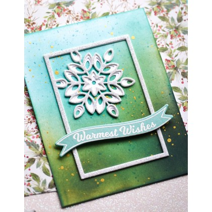 Birch Press Stanzschablone - Mini Snowflake Frame Layer Set