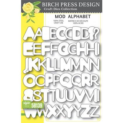 Birch Press Stanzschablone - Mod Alphabet