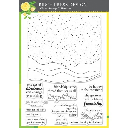 Birch Press Clear Stamp Set - Celestial Waves