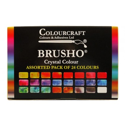 Brusho Crystal Colour Farb-Pigmente Starter Pack - 24 Farben