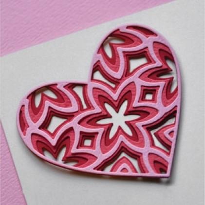 Birch Press Stanzschablonen-Set - Caprice Heart Layer Set