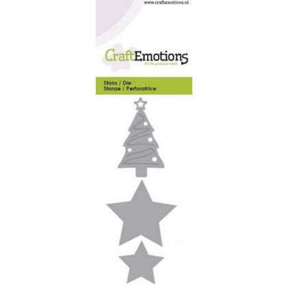 CraftEmotions Die - Weihnachtsbaum & Sterne