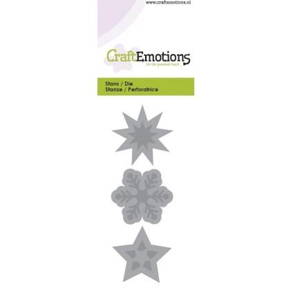 CraftEmotions Stanzschablone - Sterne und Eiskristalle