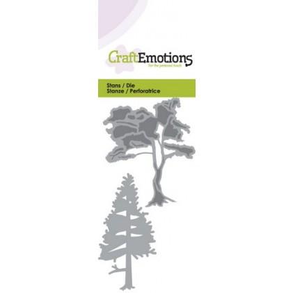 CraftEmotions Stanzschablone - Bäume 1 - 20% RABATT