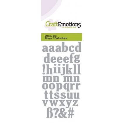 CraftEmotions Stanzschablone - Kleinbuchstaben