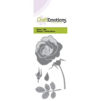 CraftEmotions Stanzschablone - Rose