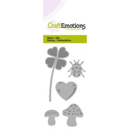 CraftEmotions Stanzschablone - Glücks-Symbole