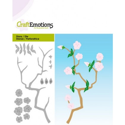 CraftEmotions Die - Zweig mit Blüten