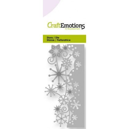 CraftEmotions Stanzschablone - Schneeflocken-Rand