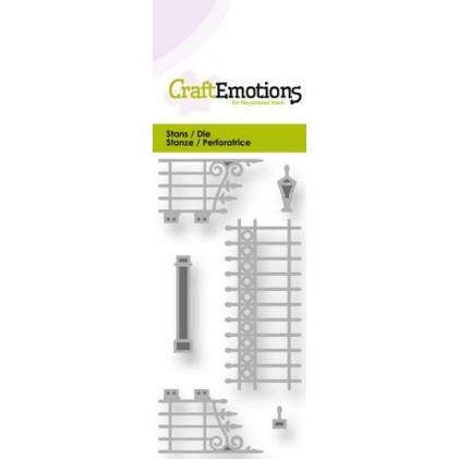 CraftEmotions Stanzschablone - Zaun und Tor