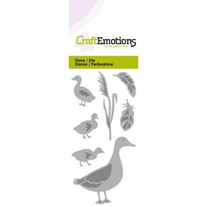 CraftEmotions Stanzschablone - Enten und Gänse